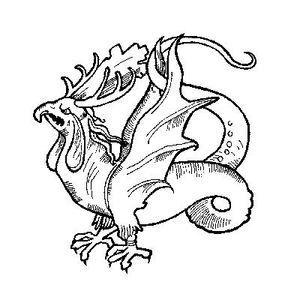 Cockatrice coloring #2, Download drawings