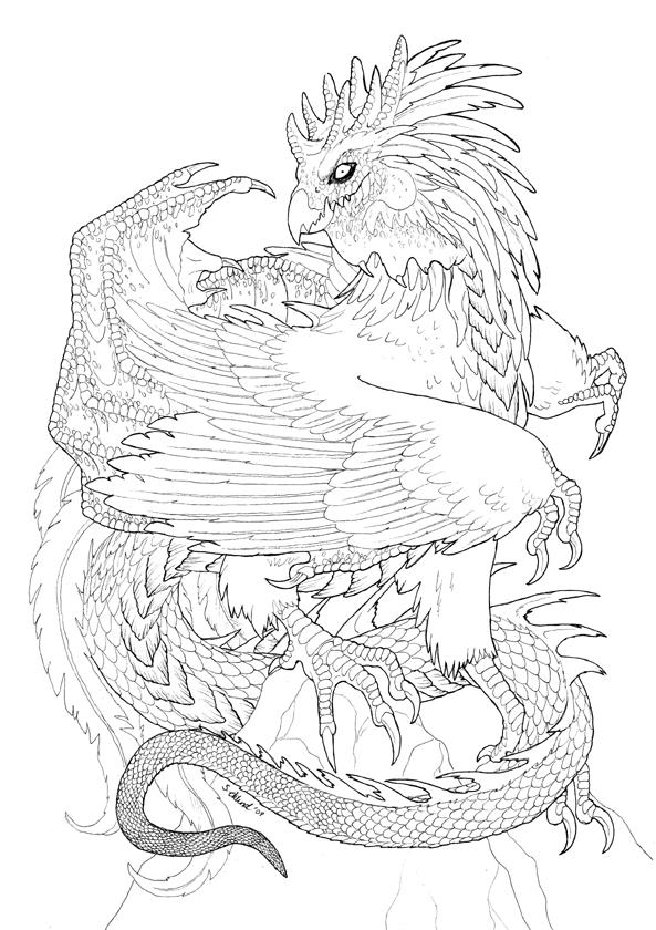 Cockatrice coloring #12, Download drawings
