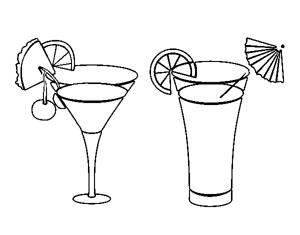 Cocktail coloring #12, Download drawings