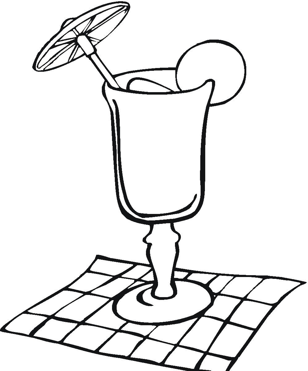 Cocktail coloring #1, Download drawings