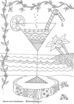Cocktail coloring #9, Download drawings