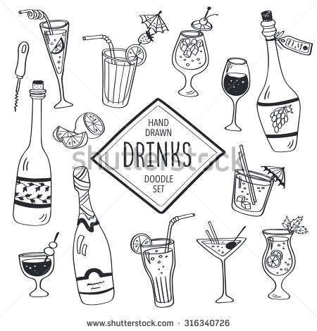 Cocktail coloring #6, Download drawings