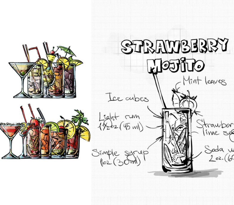 Cocktail coloring #7, Download drawings