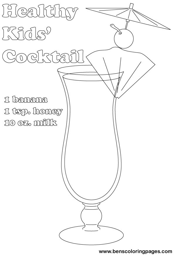 Cocktail coloring #18, Download drawings