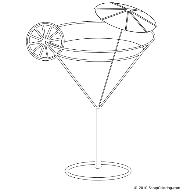 Cocktail coloring #14, Download drawings