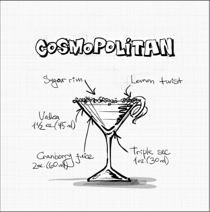 Cocktail coloring #13, Download drawings