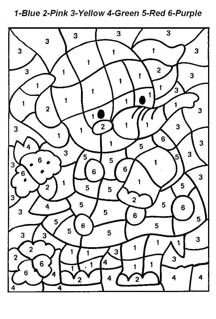 Numbers coloring #16, Download drawings