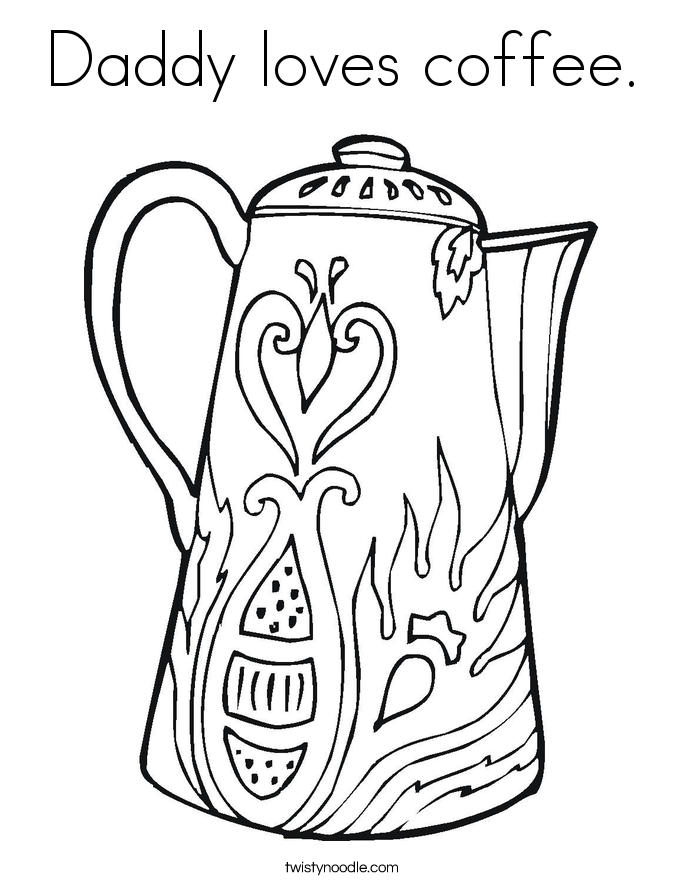 Coffee coloring #5, Download drawings