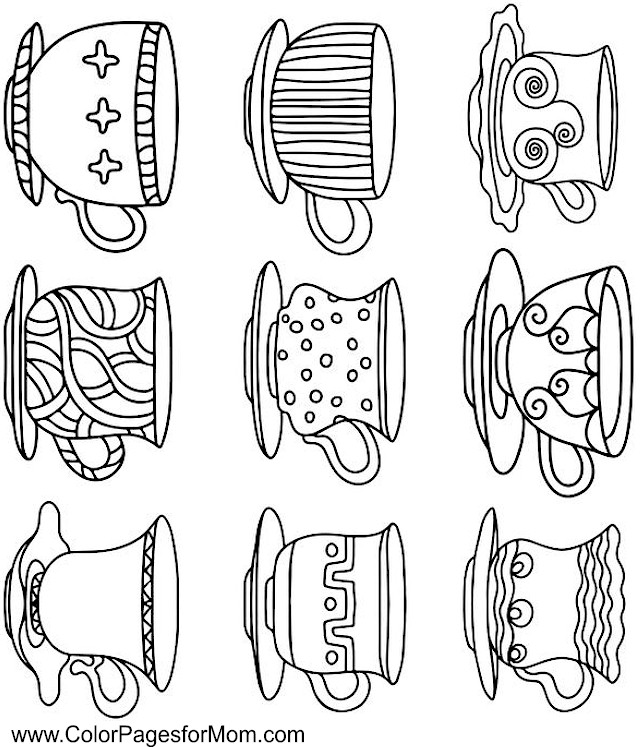 Coffee coloring #12, Download drawings