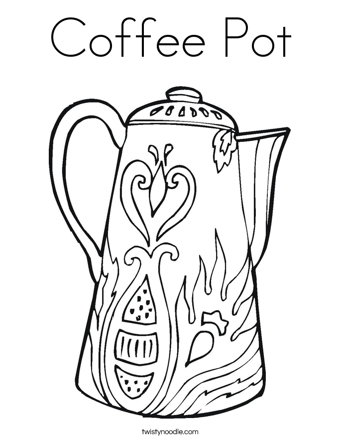 Coffee coloring #8, Download drawings