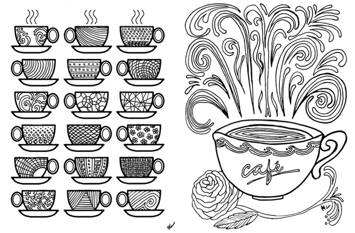 Coffee coloring #16, Download drawings