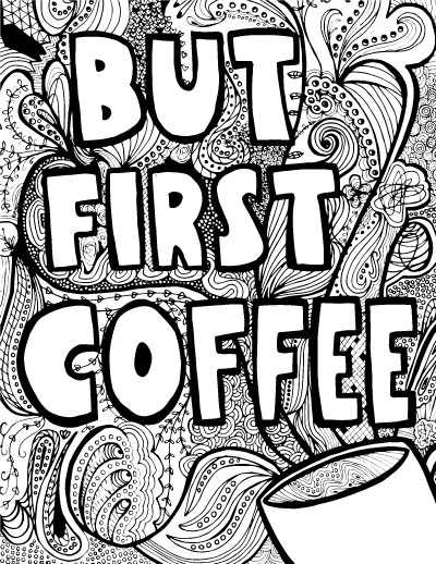 Coffee coloring #17, Download drawings