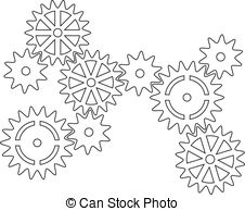 Cogs clipart #1, Download drawings