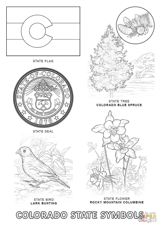 Colorado coloring #1, Download drawings