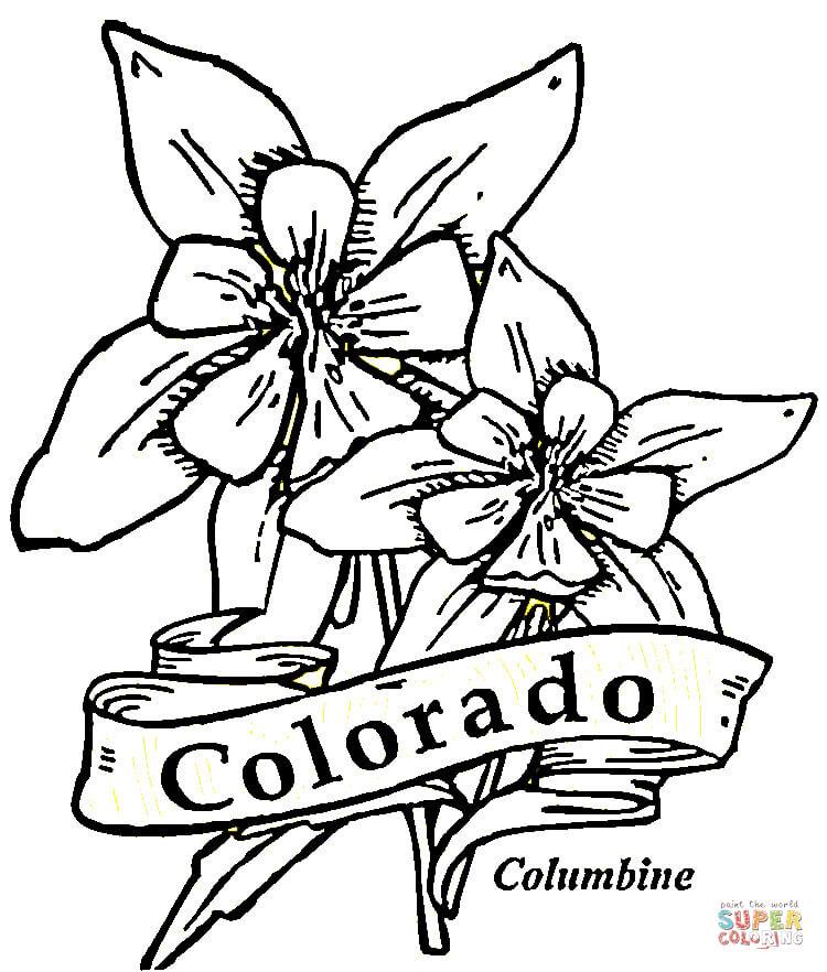 Colorado coloring #9, Download drawings