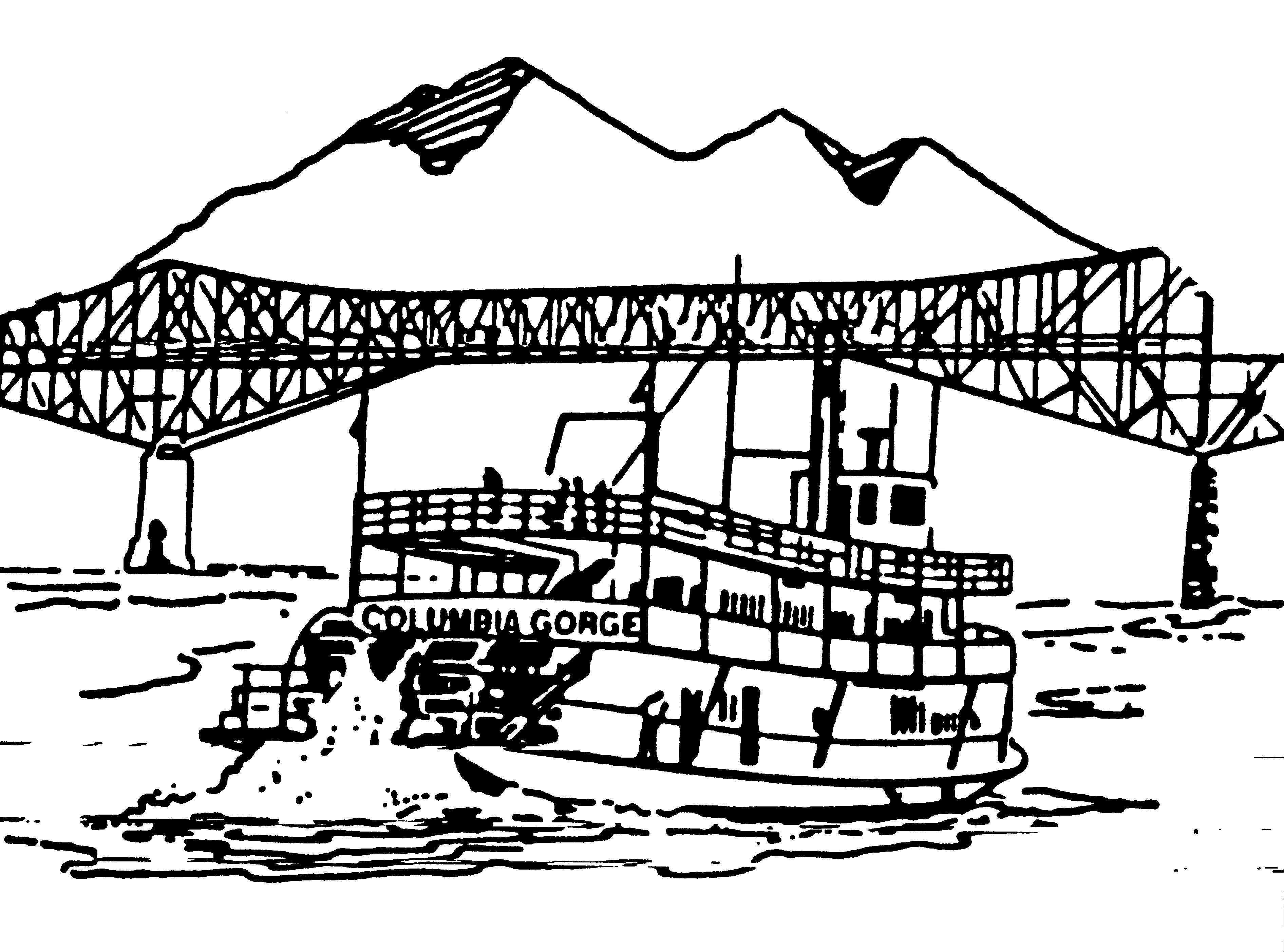 Columbia River coloring #5, Download drawings