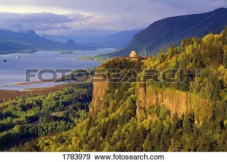 Stock Images of Columbia River Gorge k8077246 - Search ... |Clipart Columbia Gorge