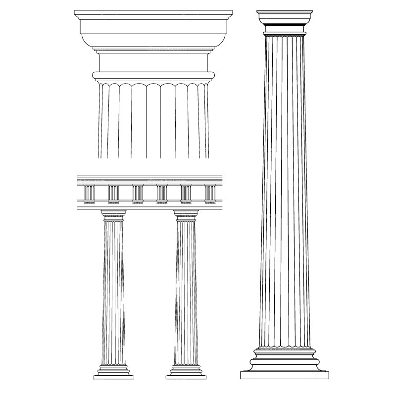 Columns clipart #4, Download drawings
