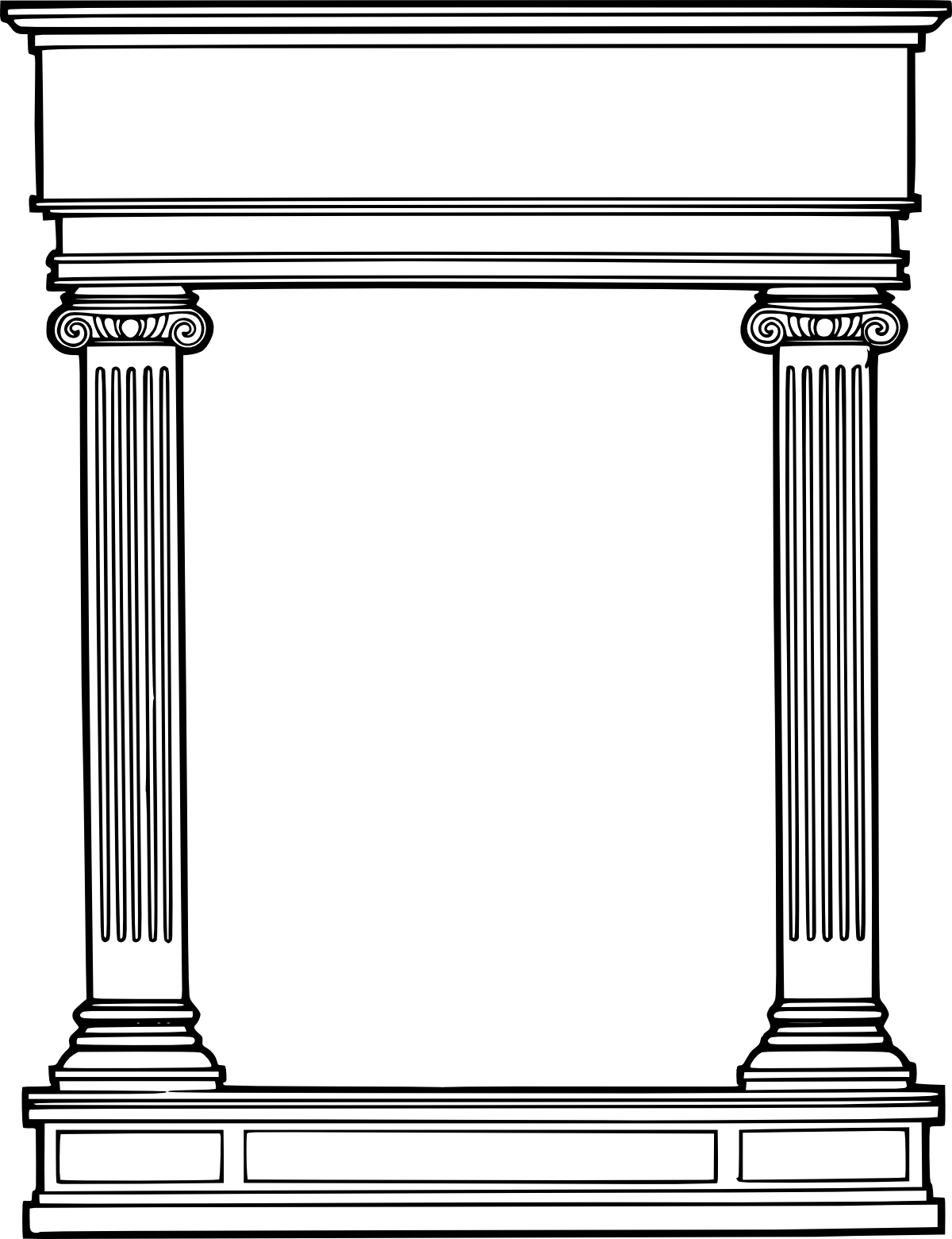 Columns coloring #11, Download drawings