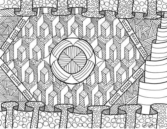 Columns coloring #10, Download drawings