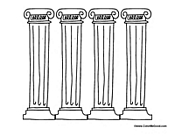 Columns coloring #19, Download drawings