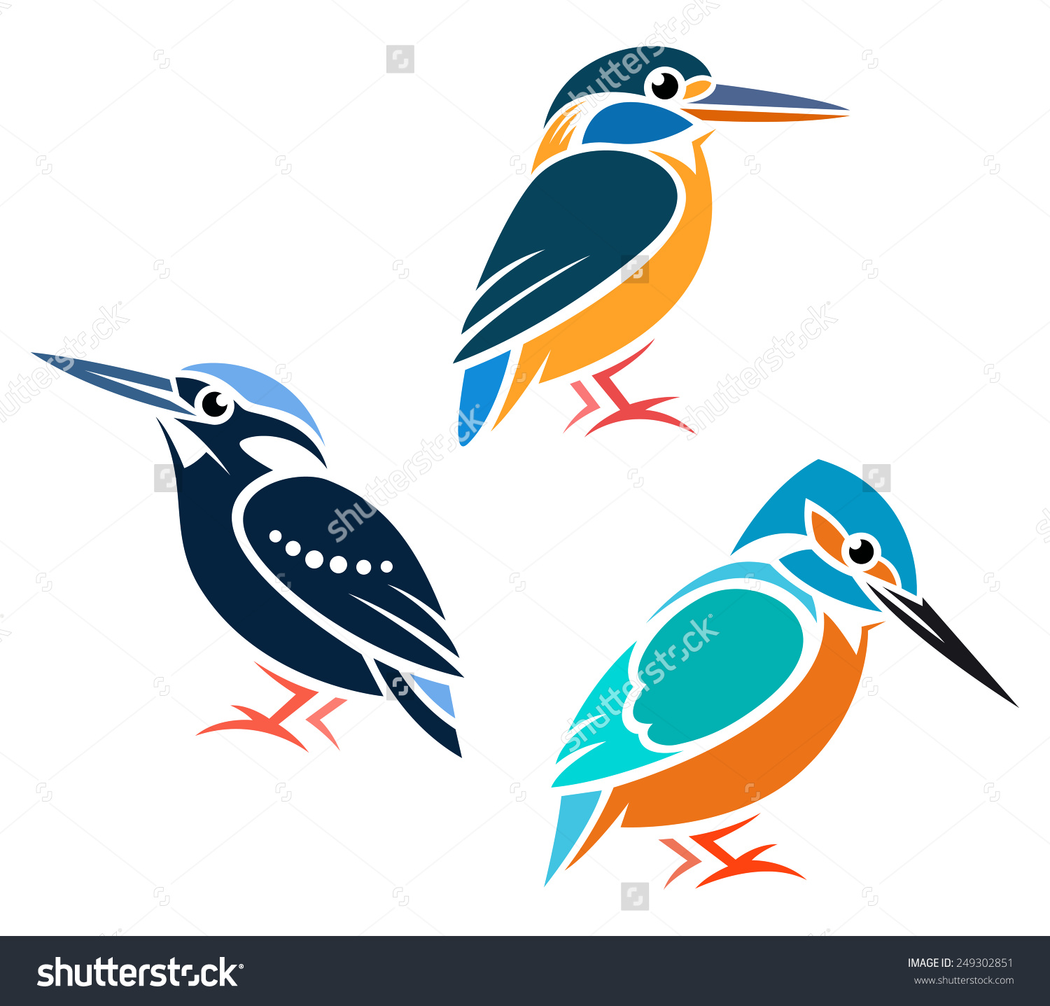 Common Kingfisher clipart #4, Download drawings