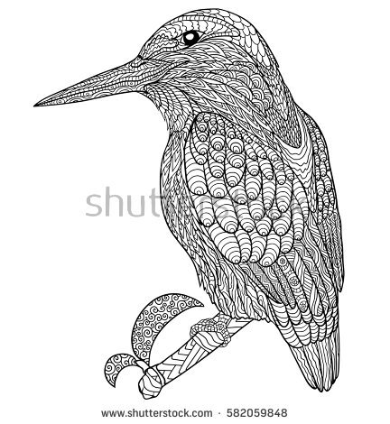 Common Kingfisher coloring #3, Download drawings