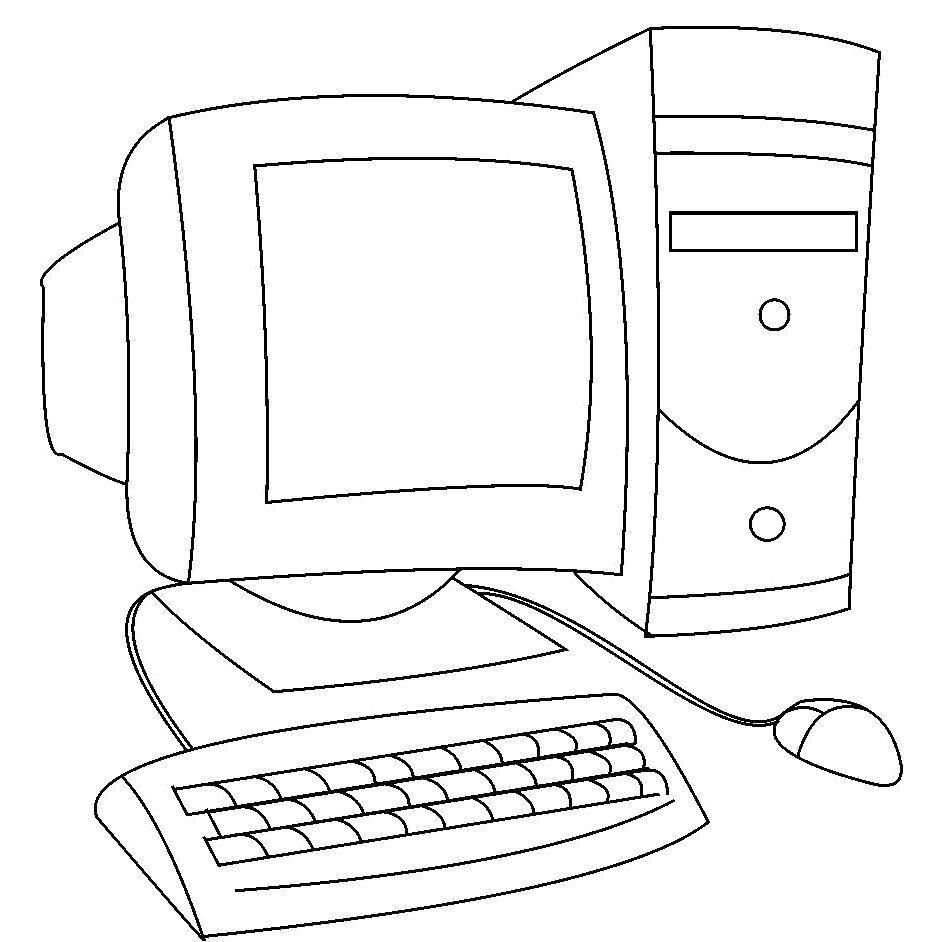 Computer coloring #1, Download drawings