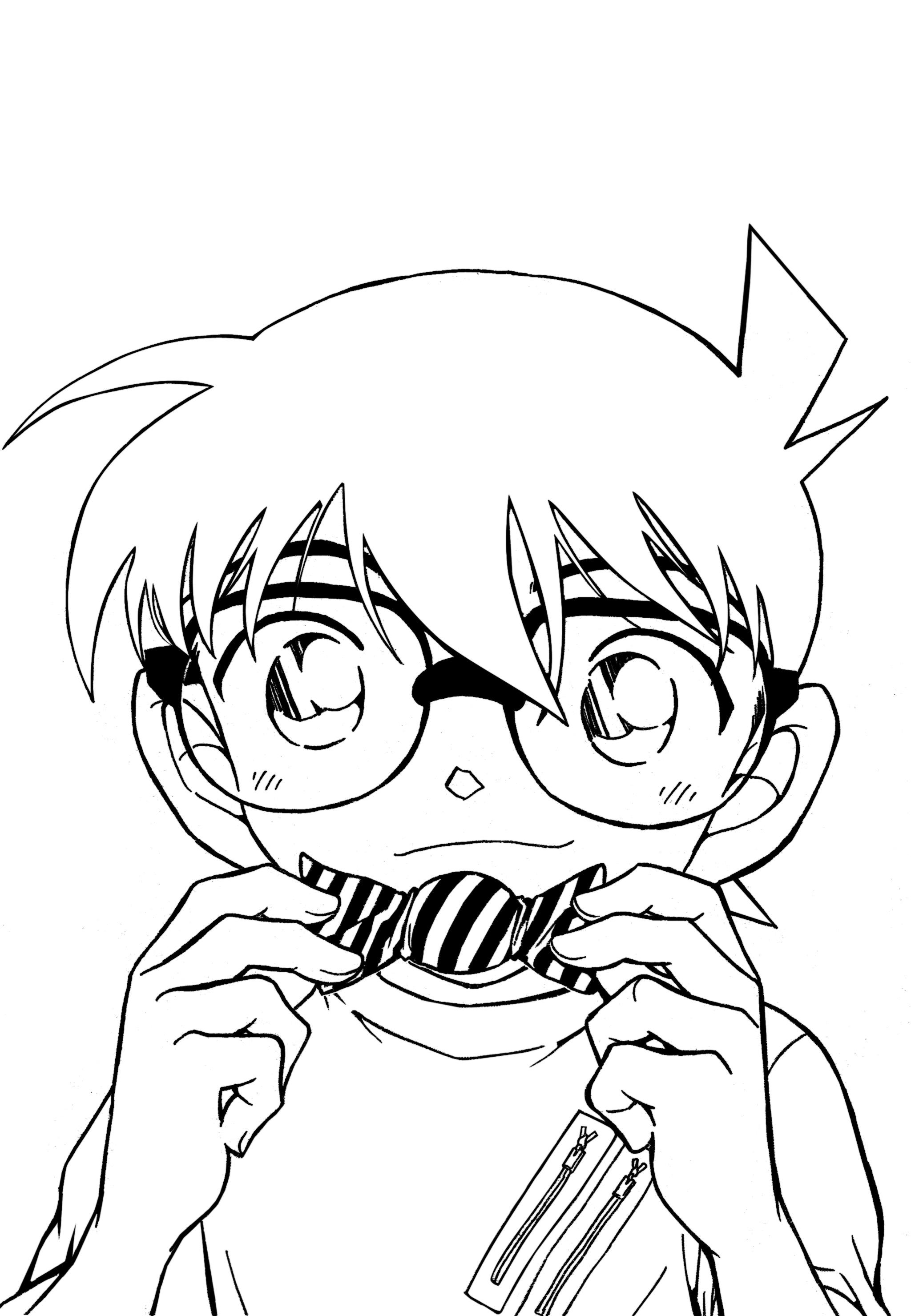 Conan coloring #1, Download drawings