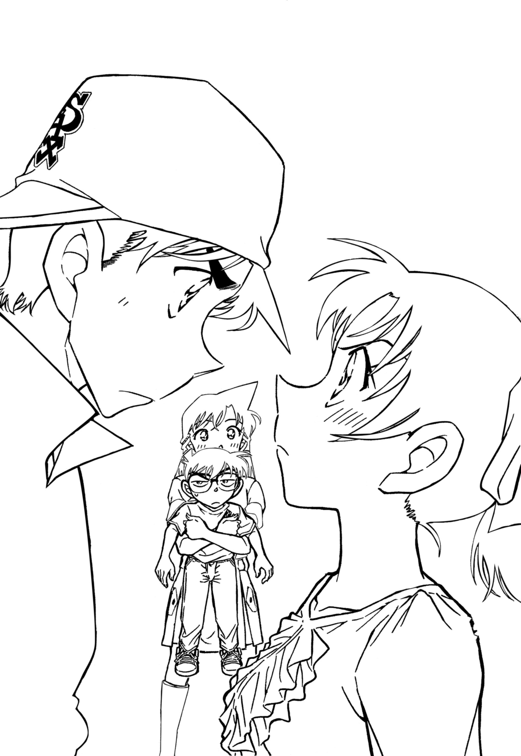 Conan coloring #3, Download drawings