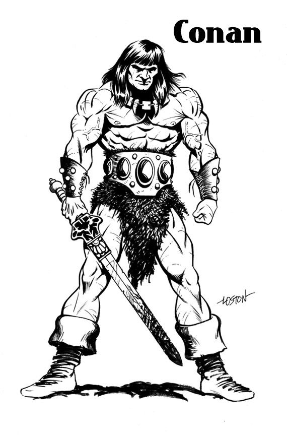 Conan The Barbarian coloring #17, Download drawings