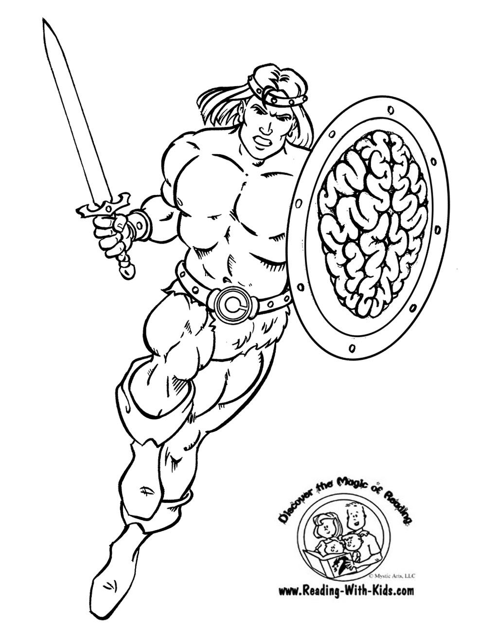 Conan The Barbarian coloring #6, Download drawings