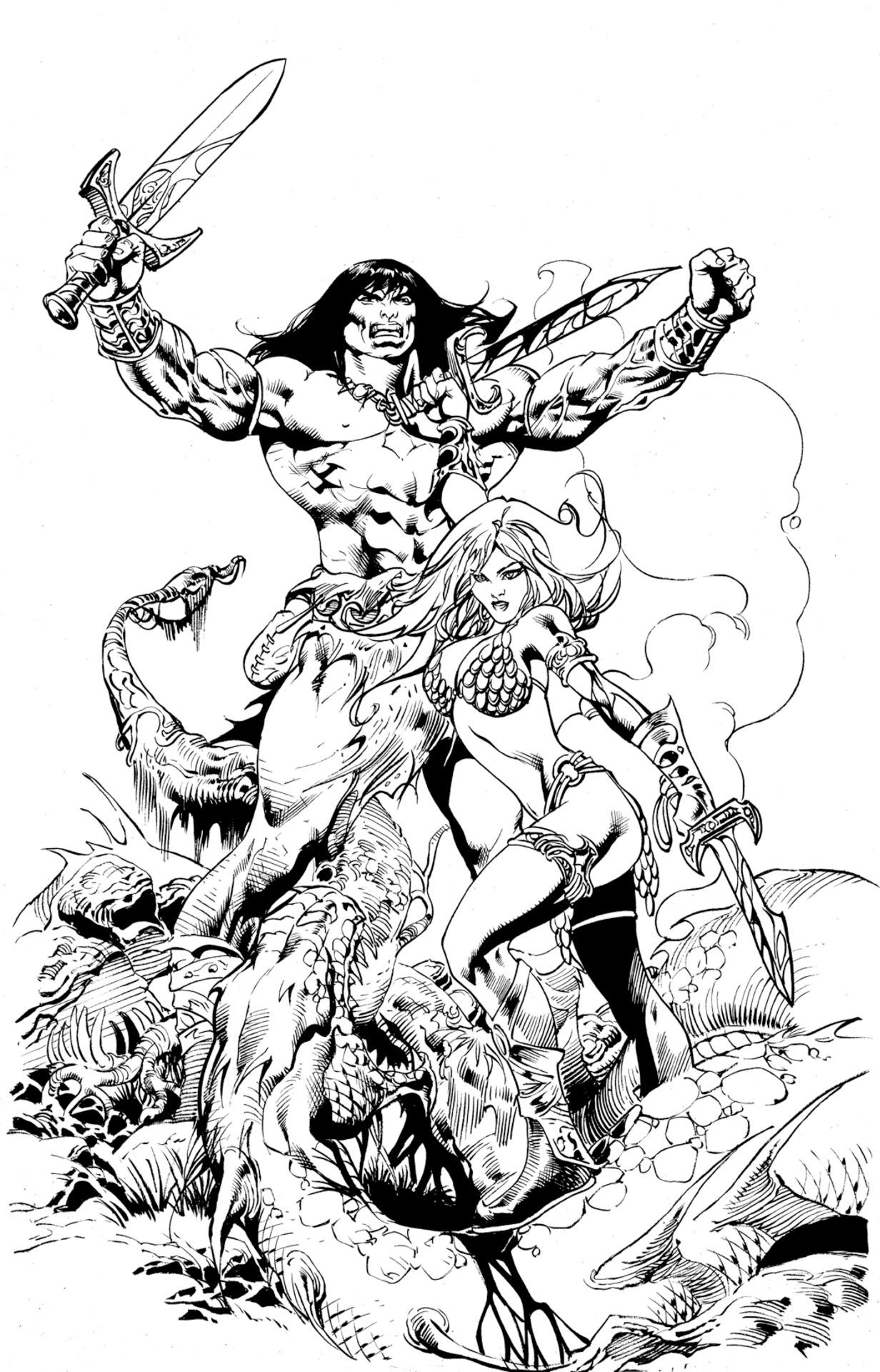Conan The Barbarian coloring #4, Download drawings