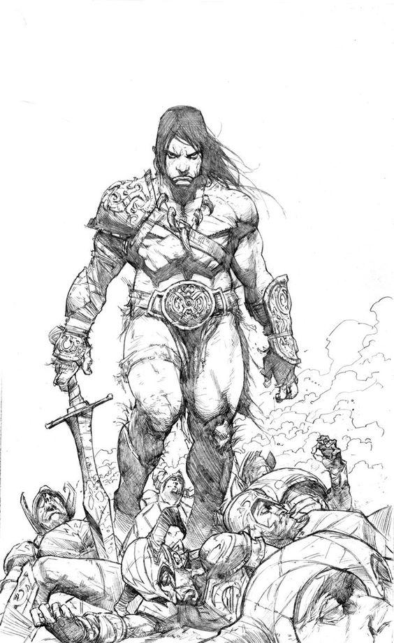 Conan The Barbarian coloring #2, Download drawings