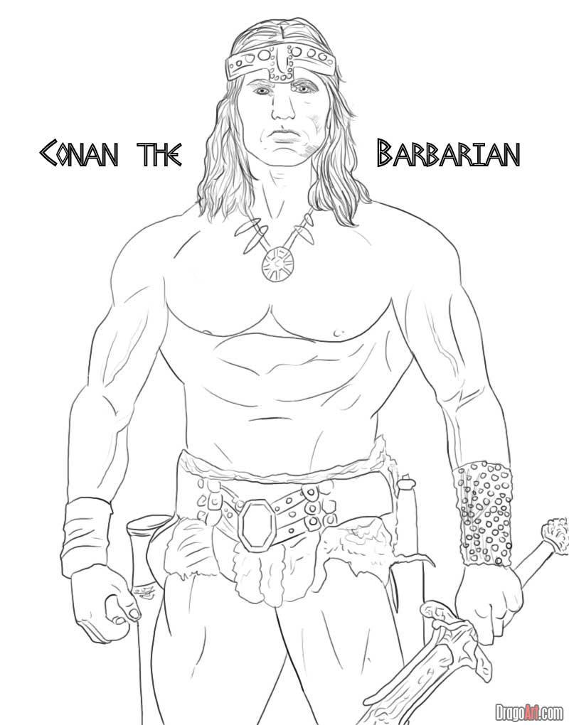 Conan The Barbarian coloring #7, Download drawings