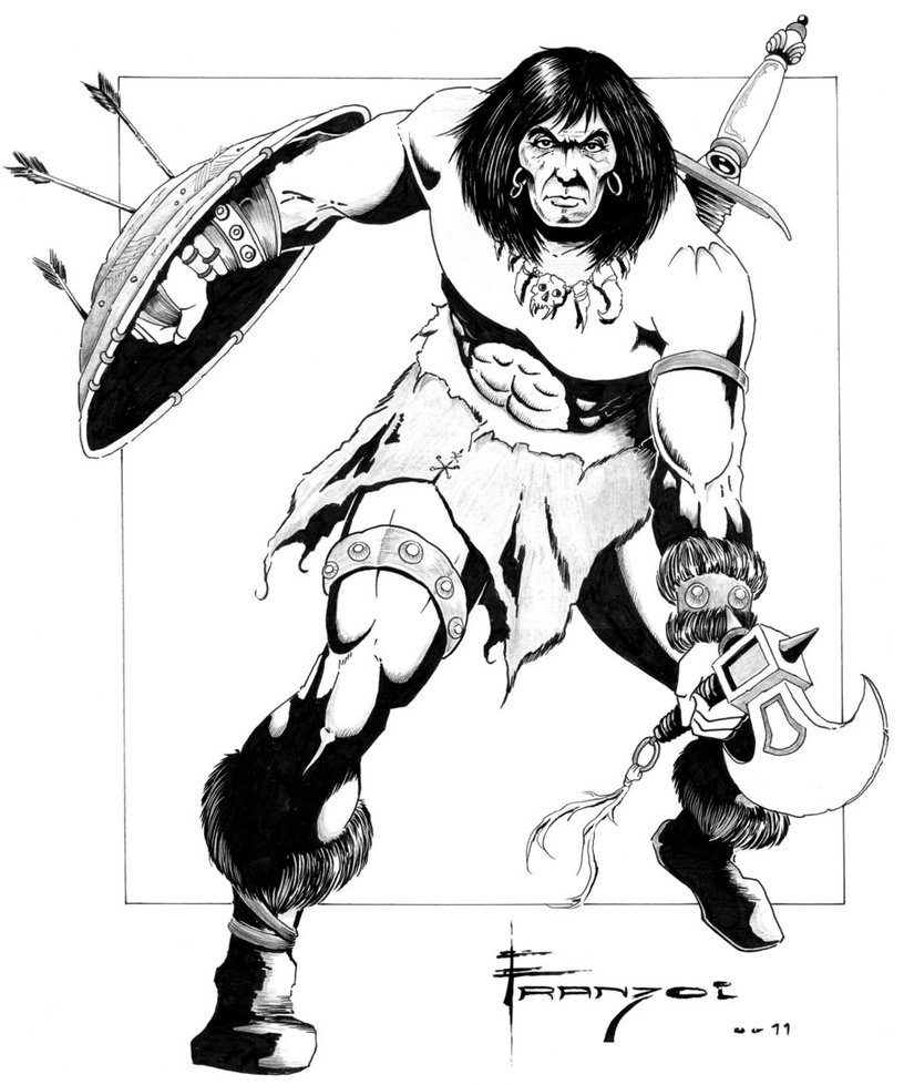 Conan The Barbarian coloring #12, Download drawings