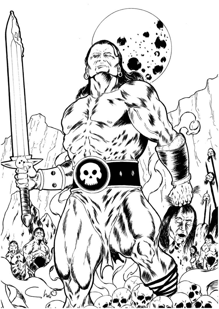 Conan The Barbarian coloring #15, Download drawings