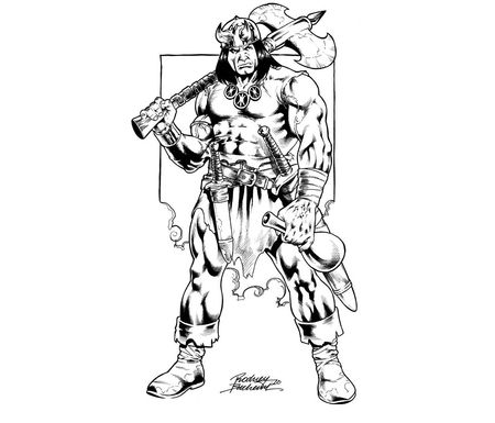 Conan The Barbarian coloring #19, Download drawings
