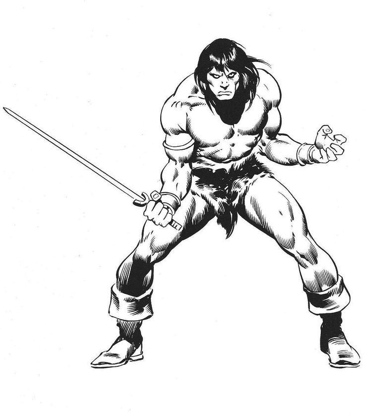 Conan The Barbarian coloring #18, Download drawings