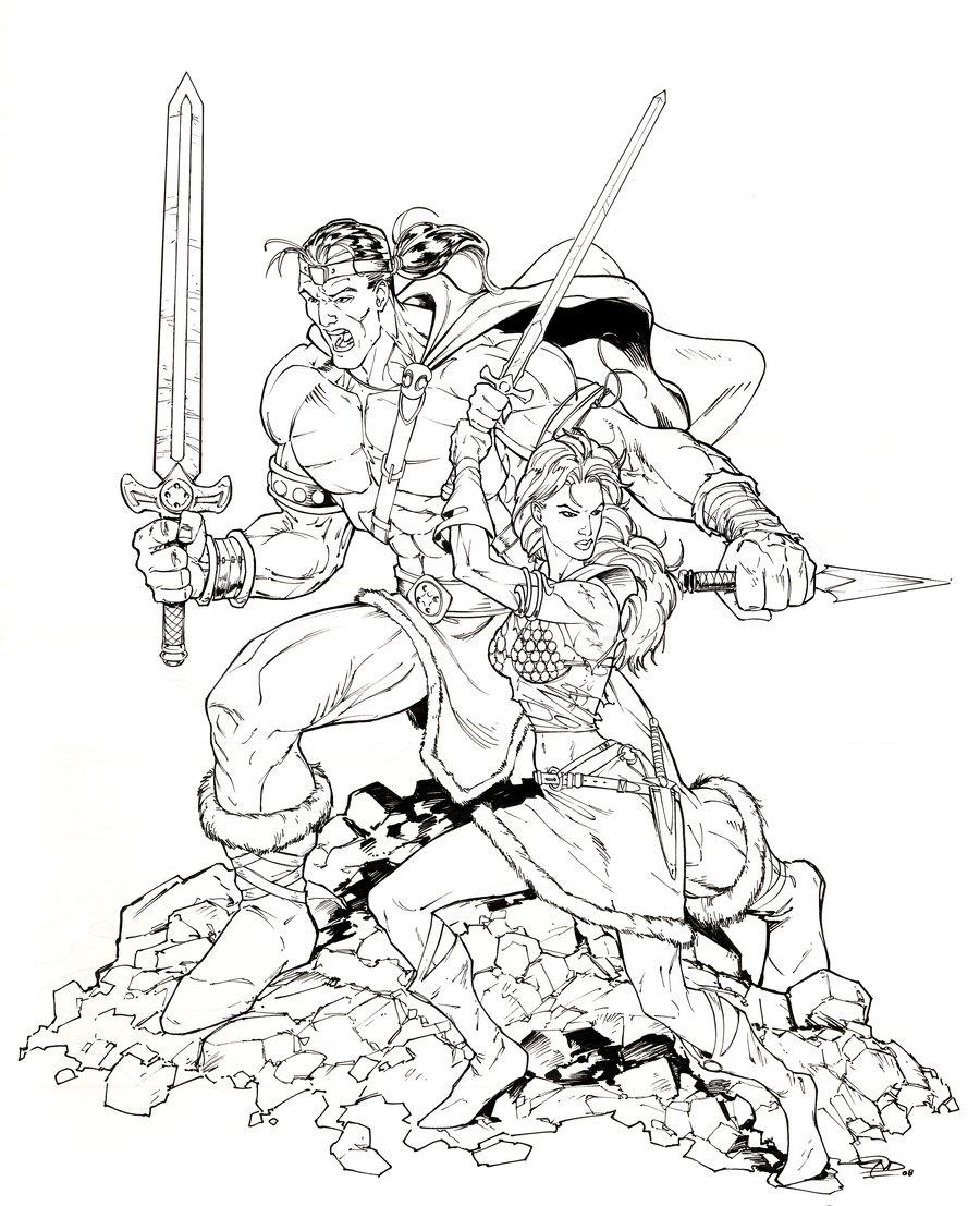 Conan The Barbarian coloring #11, Download drawings