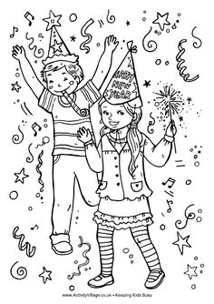 Confetti coloring #13, Download drawings