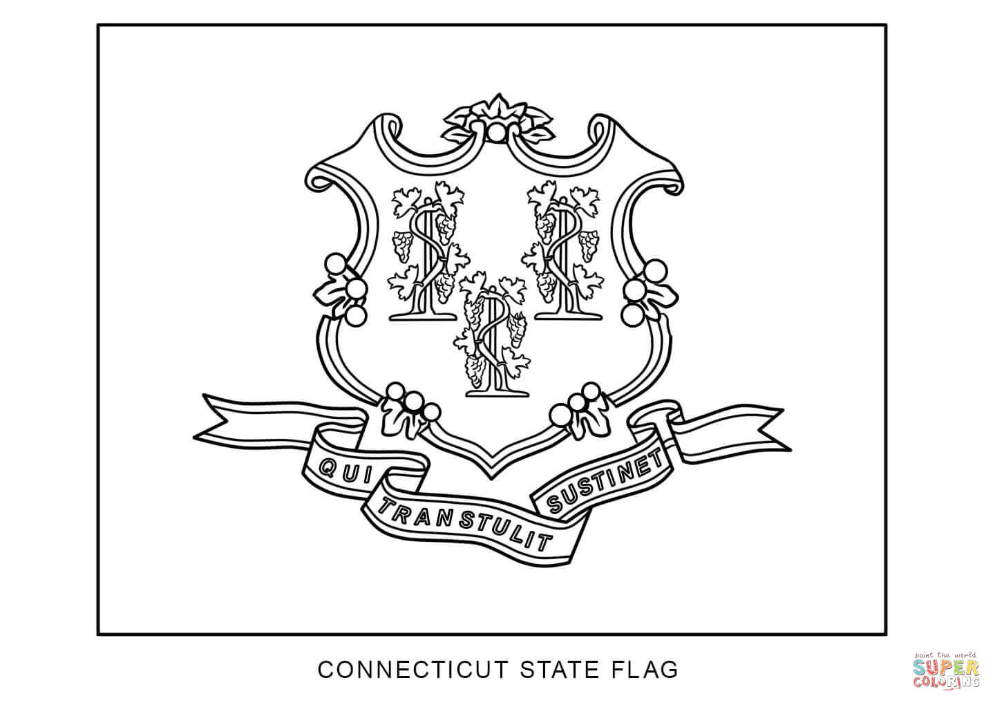 Connecticut coloring #8, Download drawings