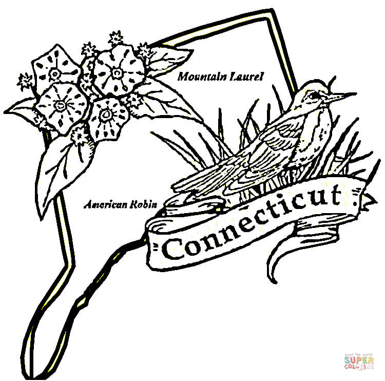 Connecticut coloring #11, Download drawings