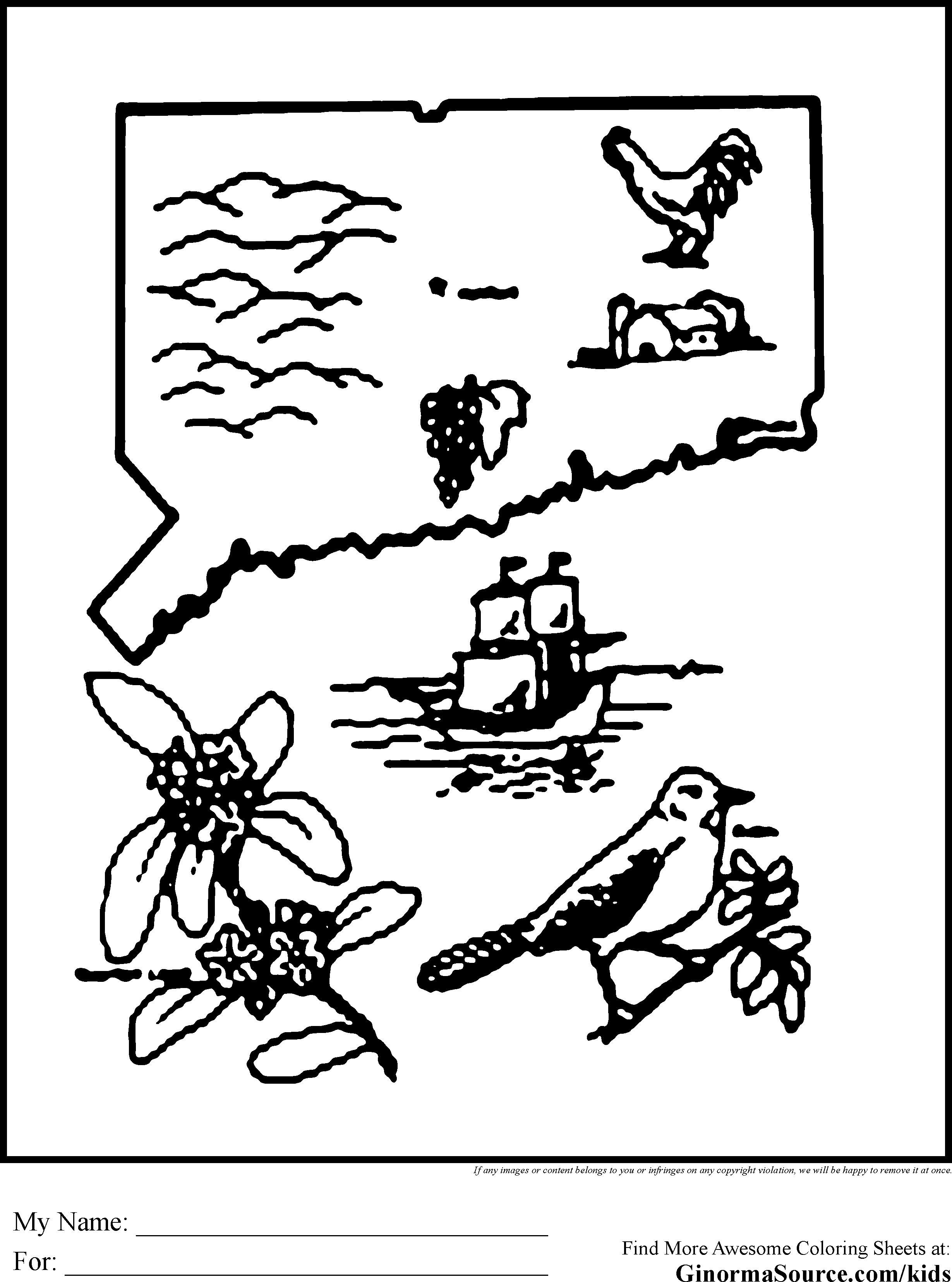 Connecticut coloring #6, Download drawings