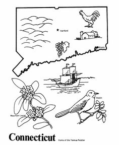 Connecticut coloring #4, Download drawings