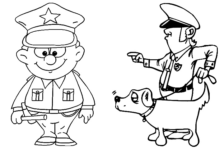 Cop coloring #16, Download drawings