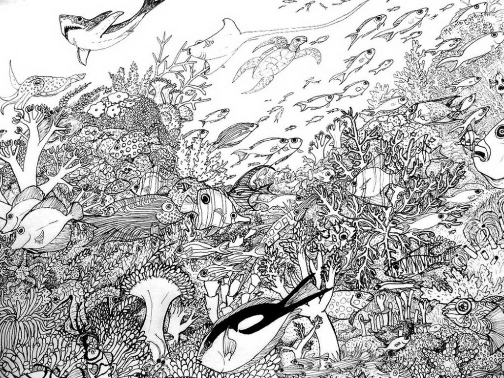 Coral Reef coloring #6, Download drawings