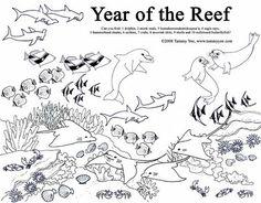 Coral Reef coloring #7, Download drawings