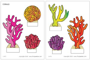 Coral coloring #15, Download drawings