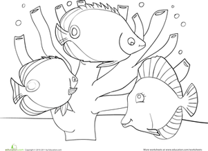 Coral Reef coloring #5, Download drawings
